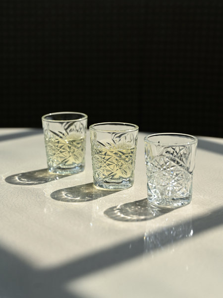 Hobstar Shot Glass Sun