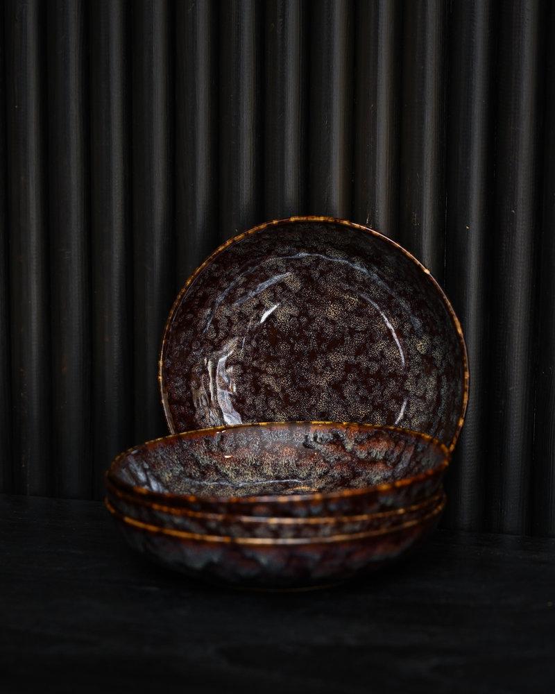 Deep Plate Hazy Black Small