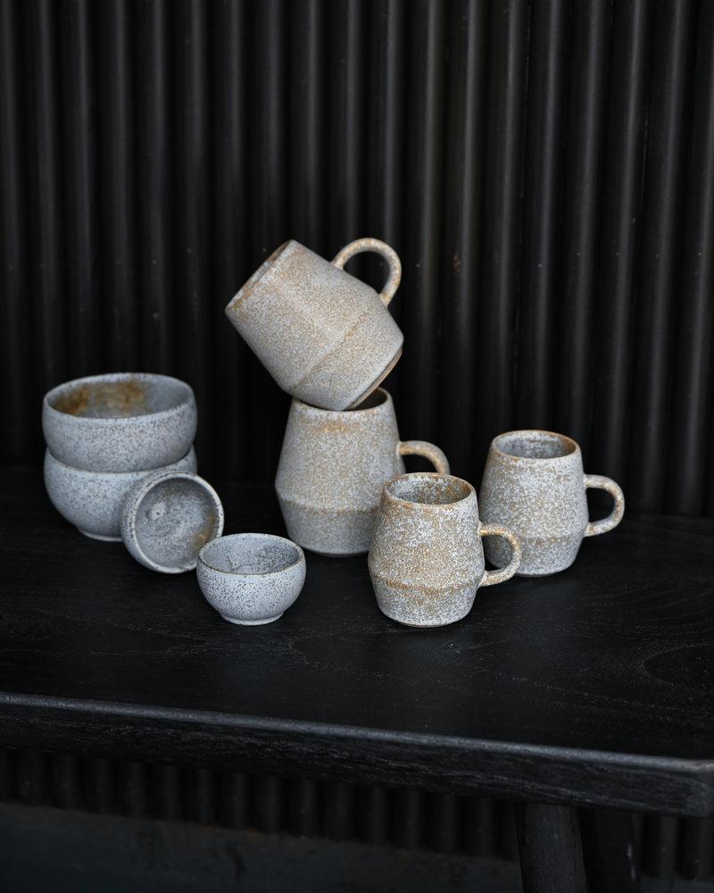 Mug Stoneware Taupe Big