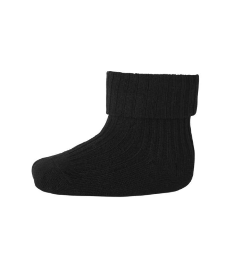 Baby Socks Cotton Rib Granite Green