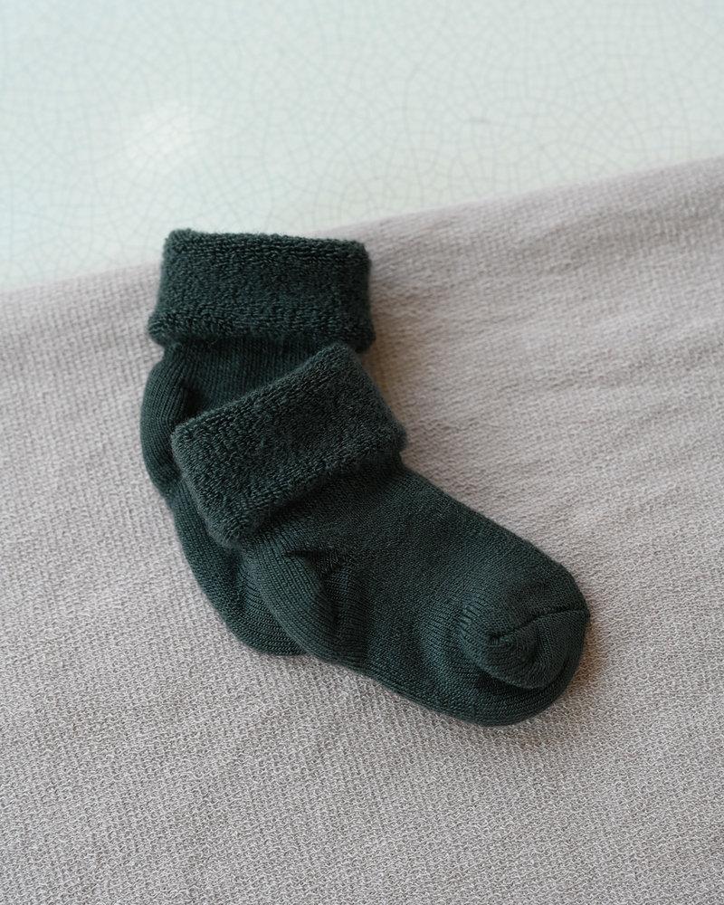 Baby Socks Terry Grey/Green