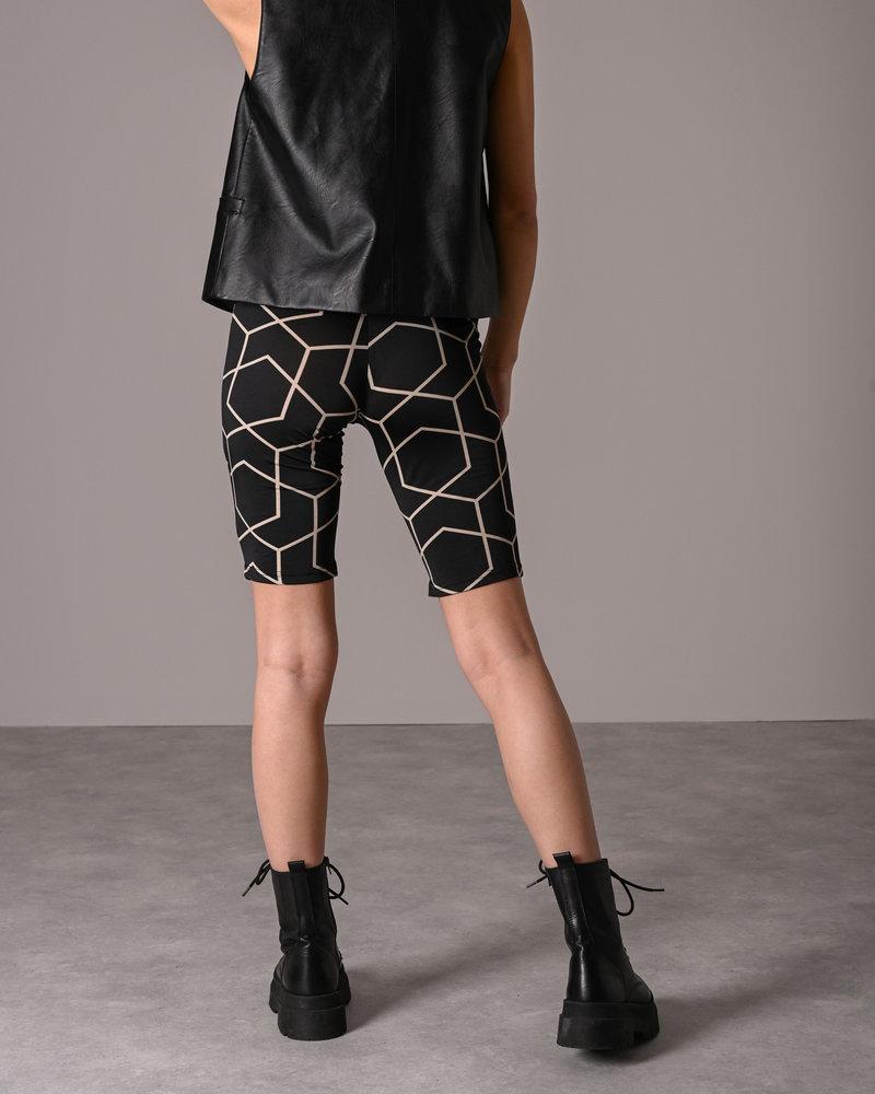 Megan Hw Biker Shorts Black