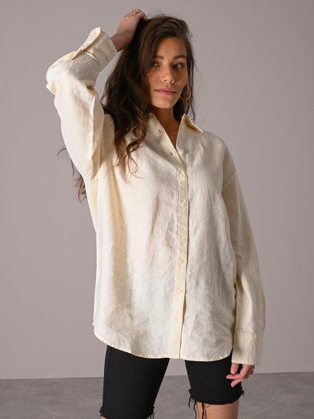 NAKD Oversized Linen Shirt Light Beige