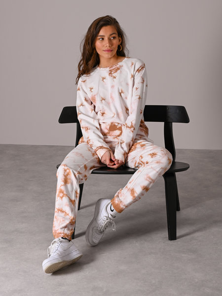 Noisy May Sweat  Pants Praline Tie Dye
