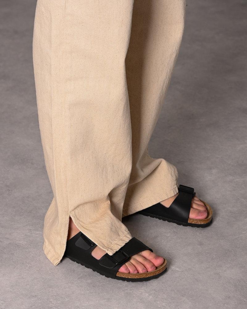 Wide Leg Side Slit Natural