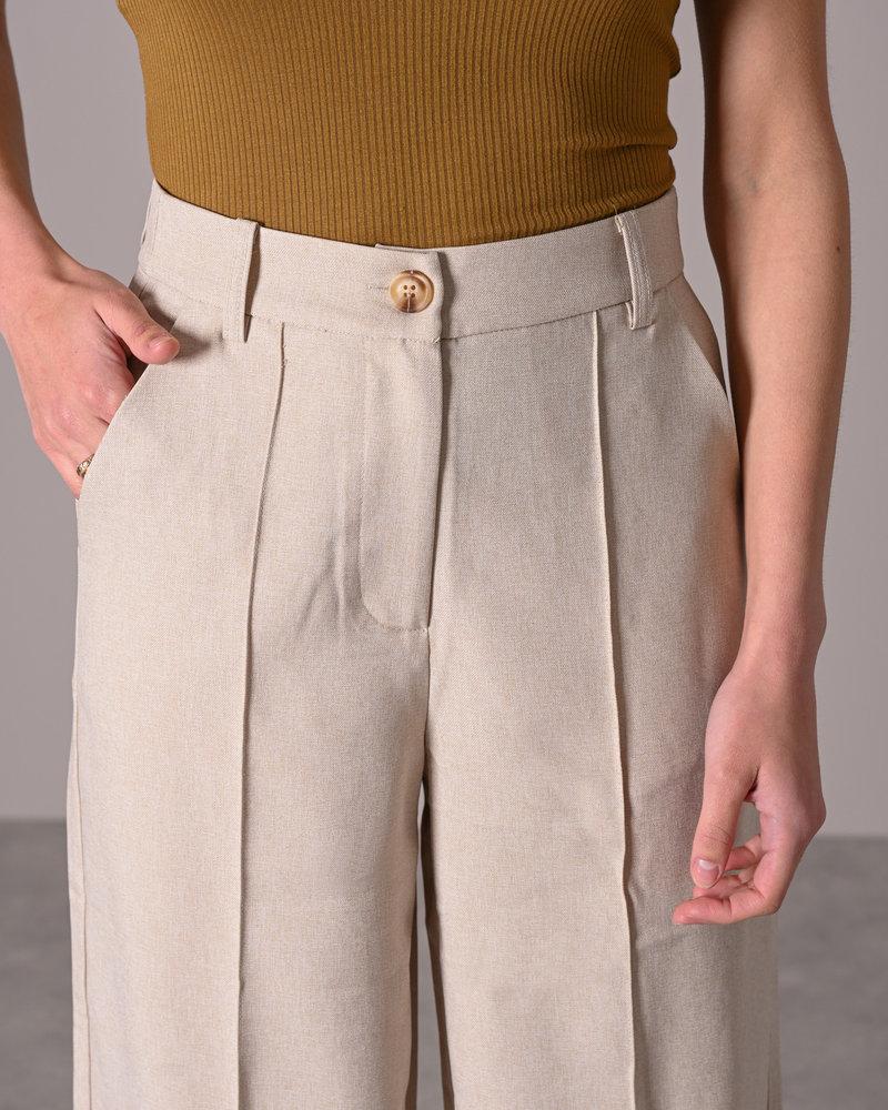Wide Suit Pants Light Beige
