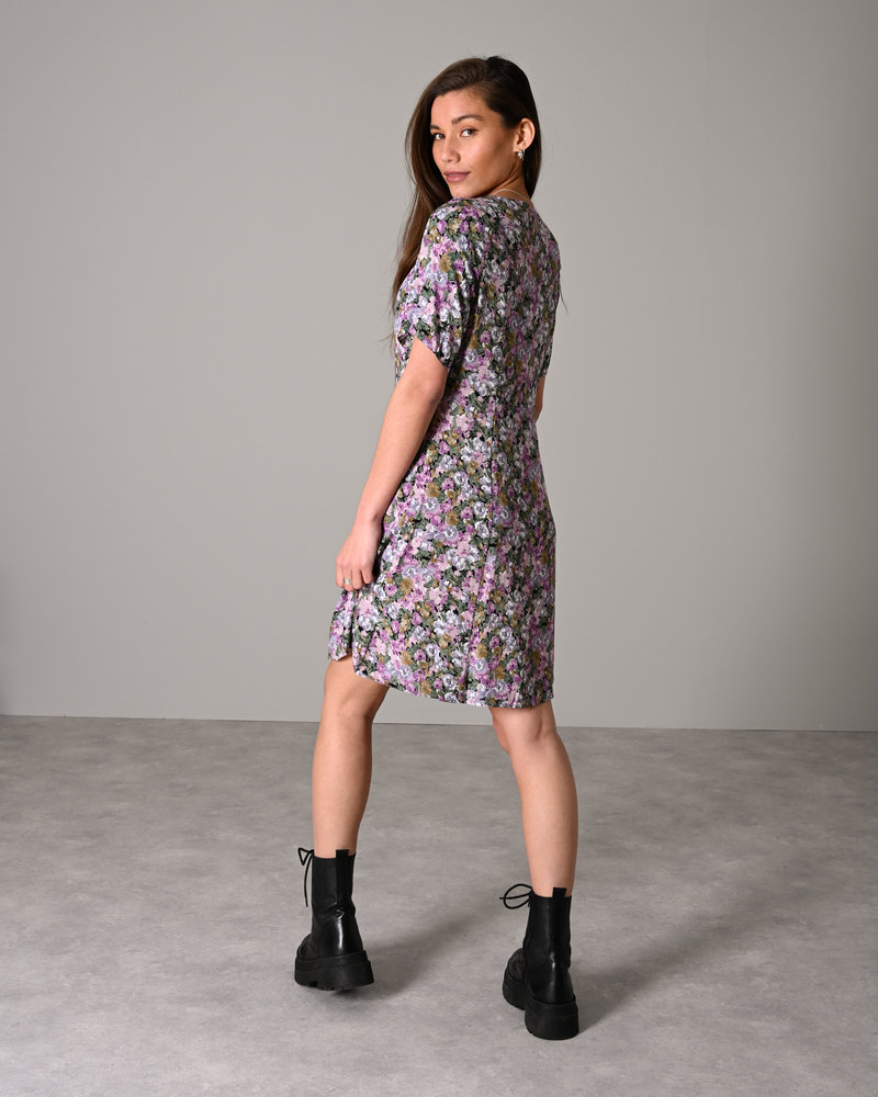 Printed Dress Purple