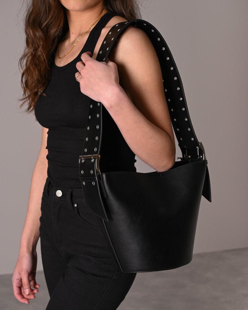Wide Belt Bucket Bag