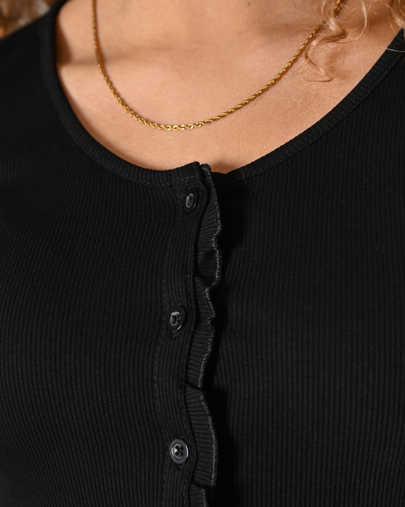 TILTIL Noami Button Top Black