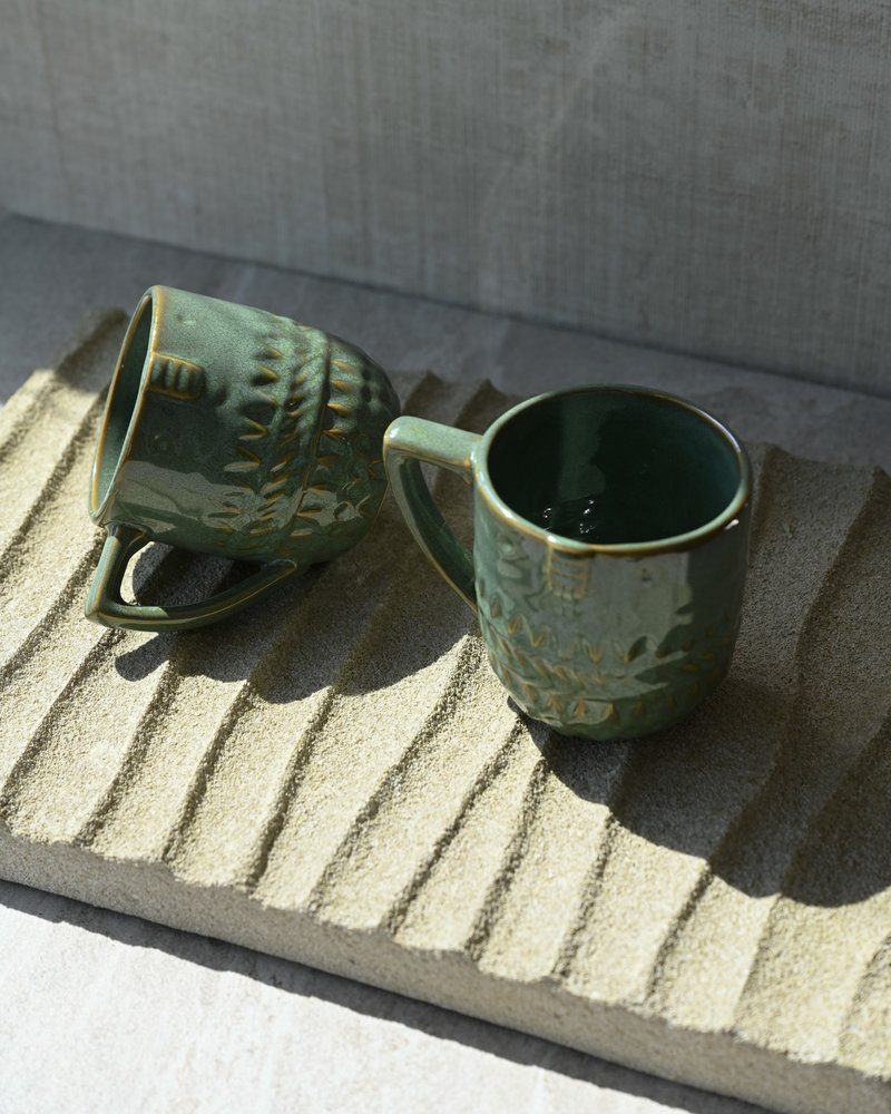 Mug Face Green