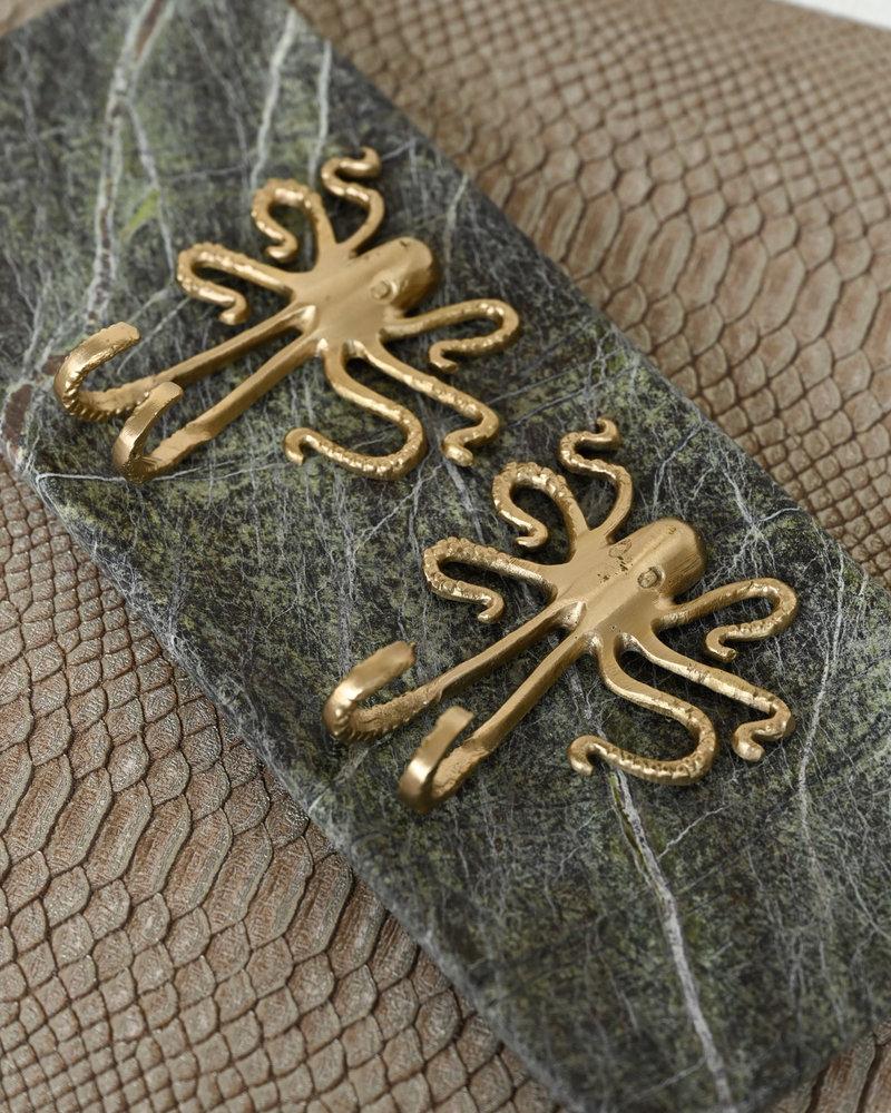 Octopus Hook Brass
