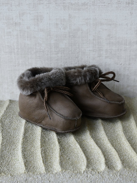 Baby Lammy Boots Grey Brown