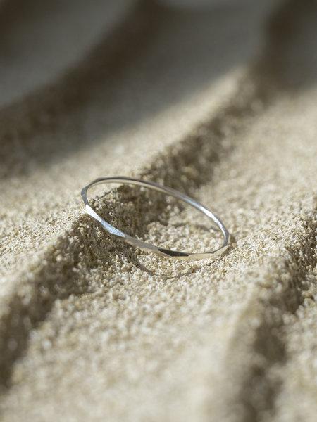 Things I Like Things I Love Thin Rocky Ring Silver