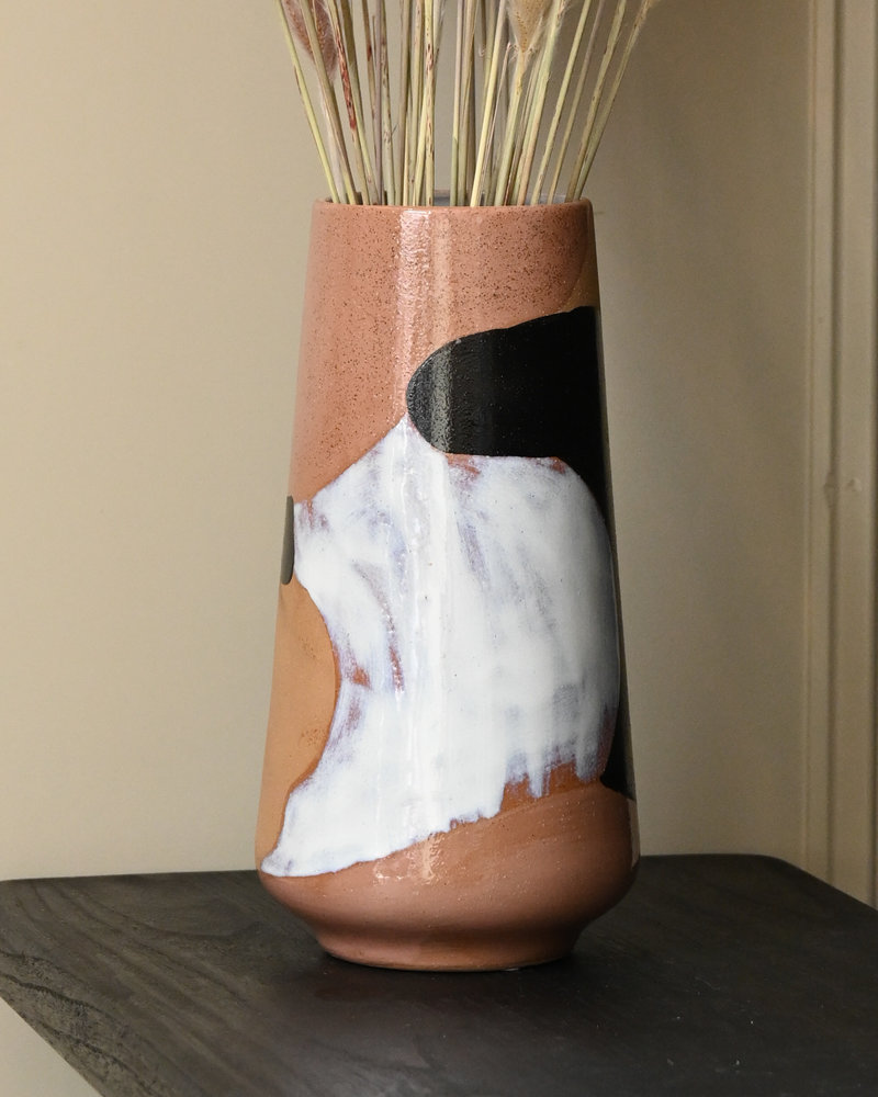 Vase Hand Painted Ceramic