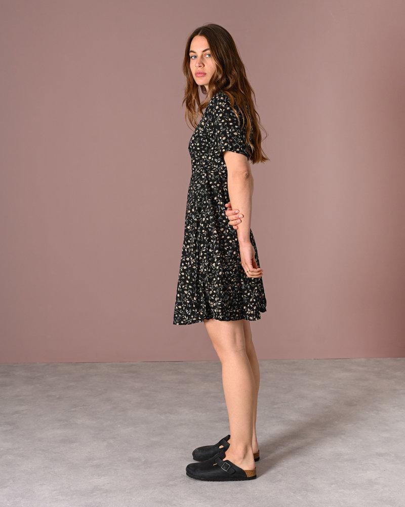 TILTIL Fabienne Flower Dress Black Garden