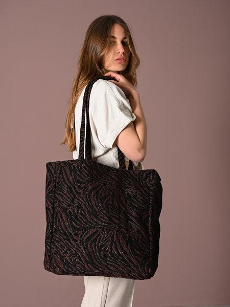 Shopper brown/black zebra