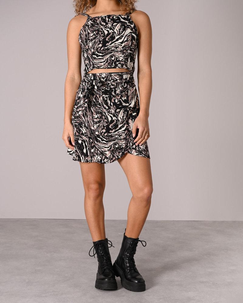 TILTIL Celine  Wrap Skirt Art Print