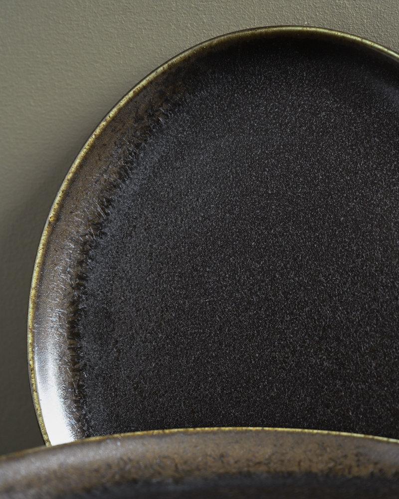Breakfast Plate Black Ceres