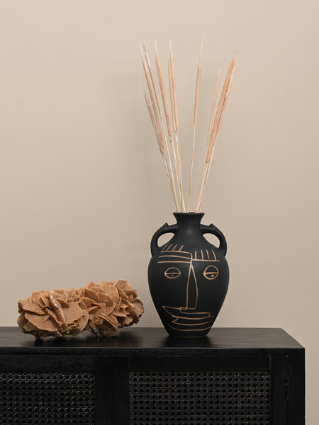Vase Face Fine Earthenware