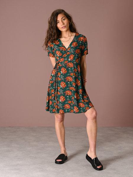 Things I Like Things I Love TILTIL Fabienne Flower Wrap Dress Petrol