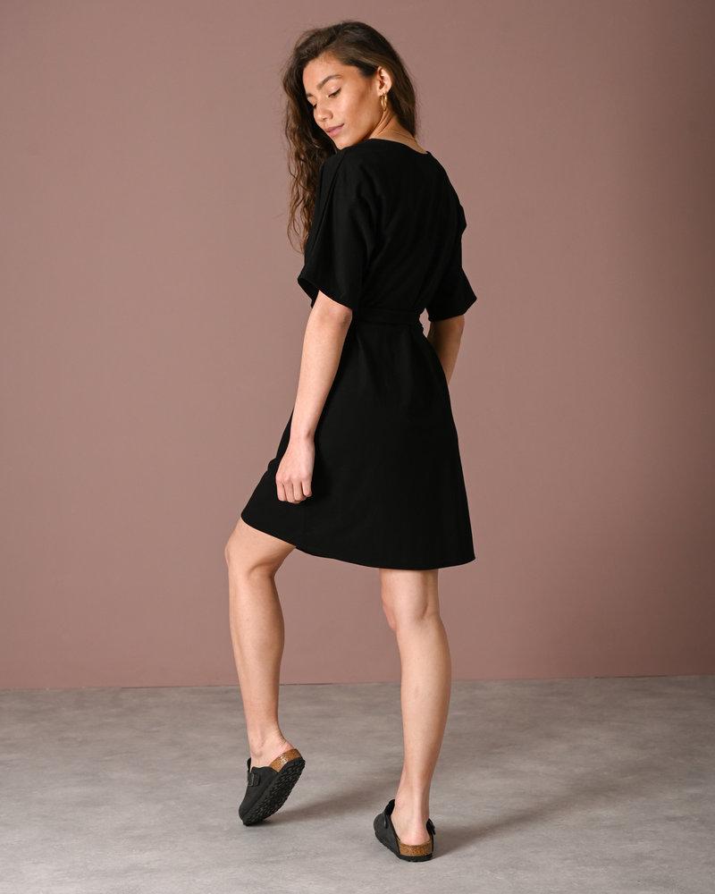 TILTIL Lola Button Dress Black