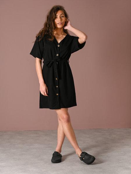 Things I Like Things I Love TILTIL Lola Button Dress Black