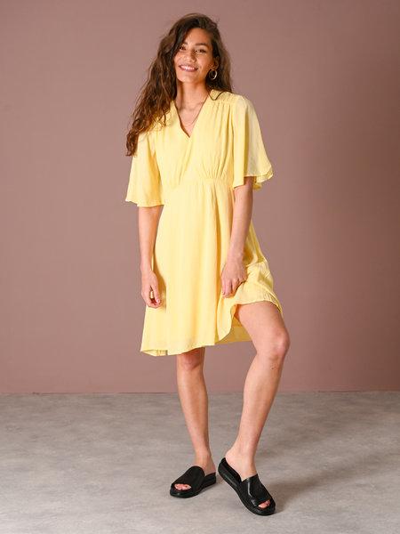 YAS Lali 2/4 Dress Pale Banana