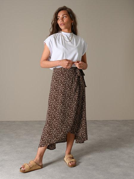Things I Like Things I Love TILTIL Maci Maxi Skirt Brown flower