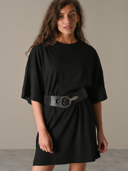 Things I Like Things I Love Unou Elastic Belt Silver Black