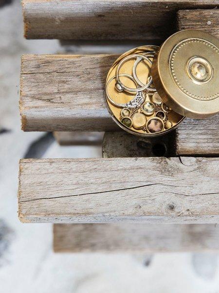 House Doctor Mini Storage Box Brass Dots