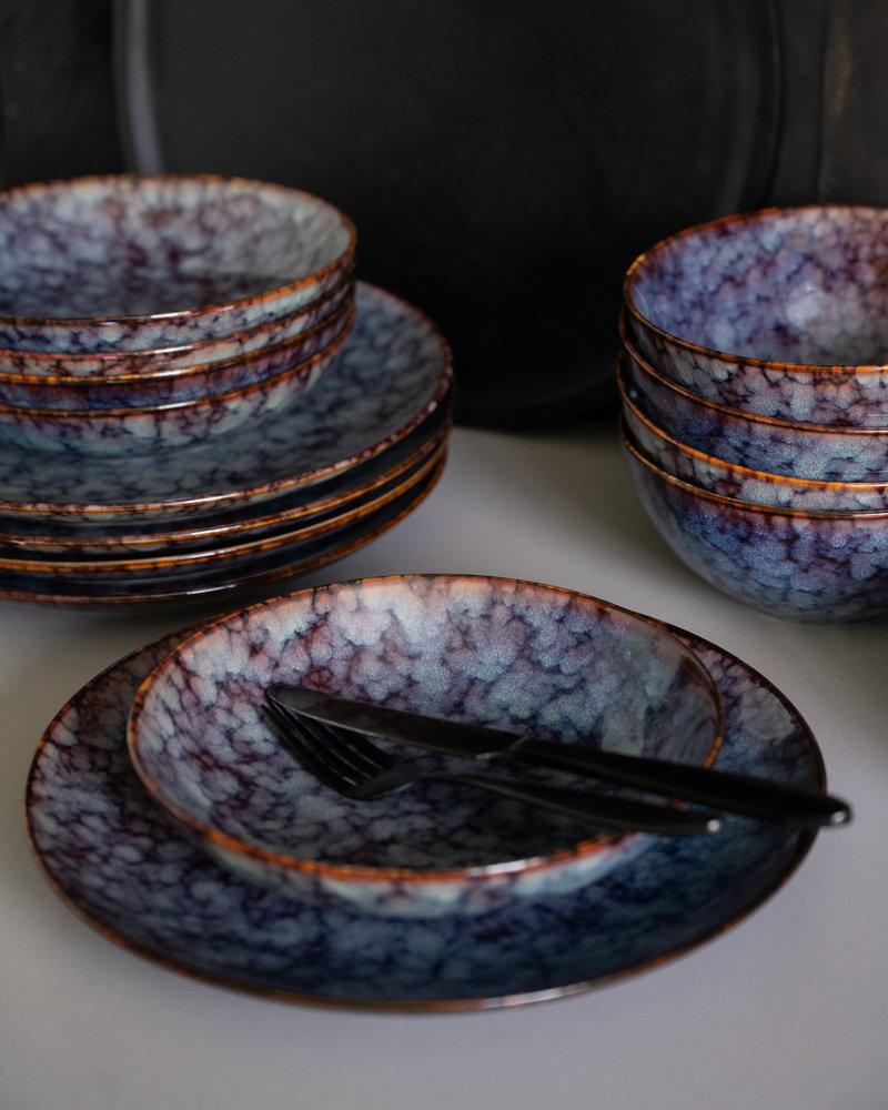 Small Deep Plate Hazy Blue