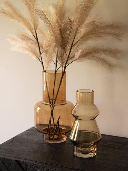 Present Time Glass Vase Amber