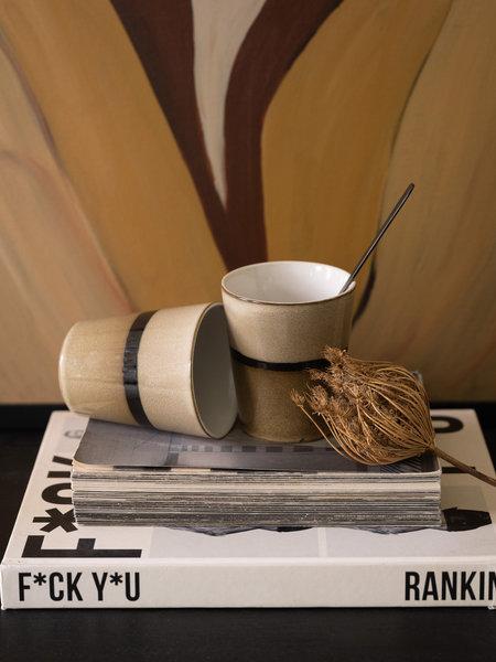 Lavandoux Mug Stripe Brown