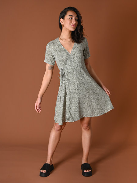 Things I Like Things I Love TILTIL Fabienne Dress Green Leaf