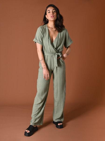 Things I Like Things I Love TILTIL Yara Linnen Jumpsuit Green