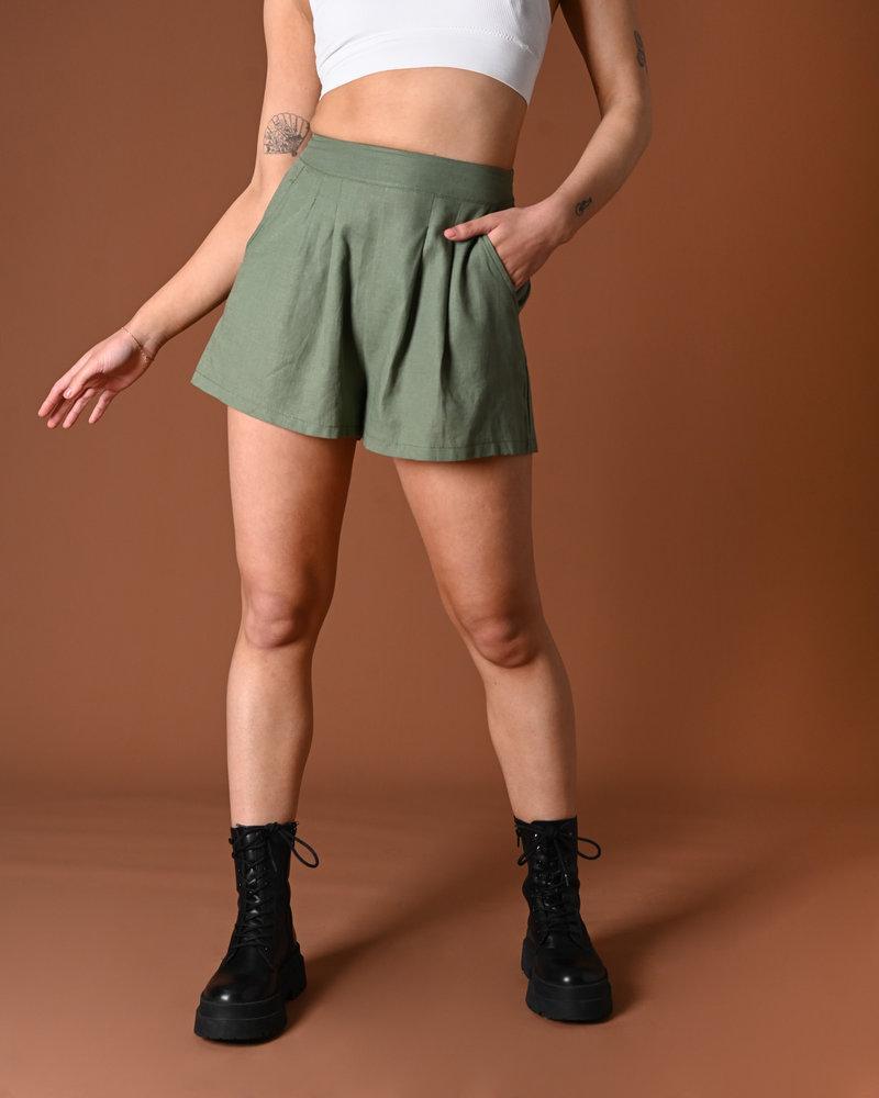TILTIL Fianna Linen Short Green