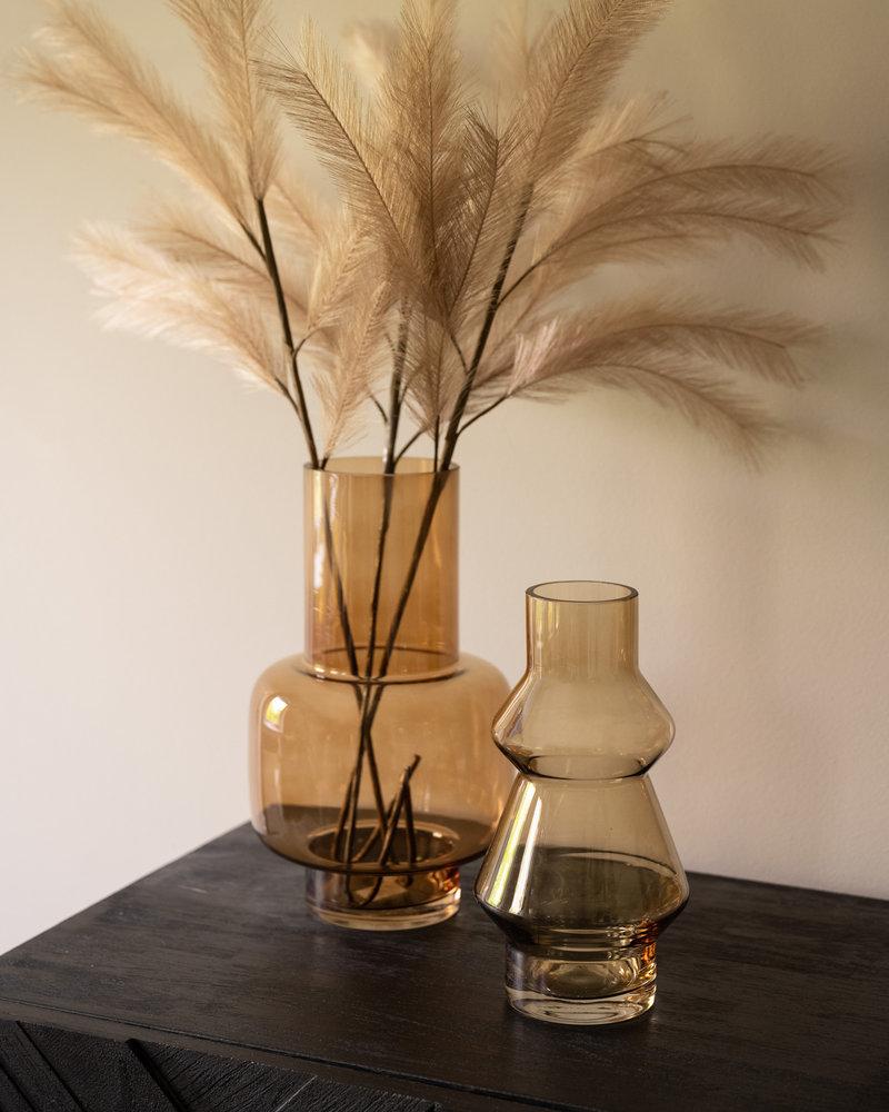 Vase Blush Glass Honey Brown