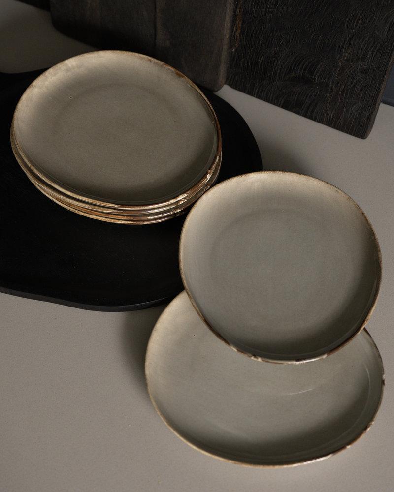 Breakfast Plate Grey Ceres