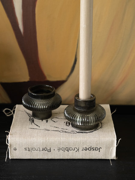 B&B Trend Company Double Sided Candle Holder Christy Dark Green