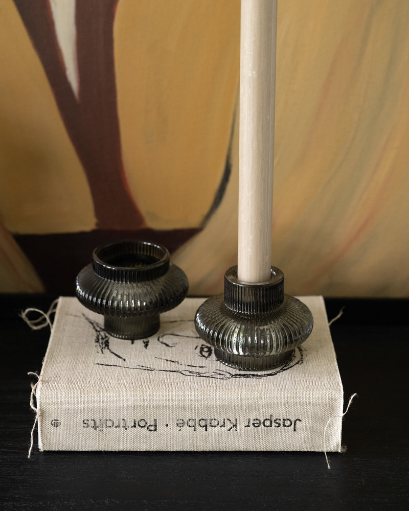 Double Sided Candle Holder Christy Dark Green