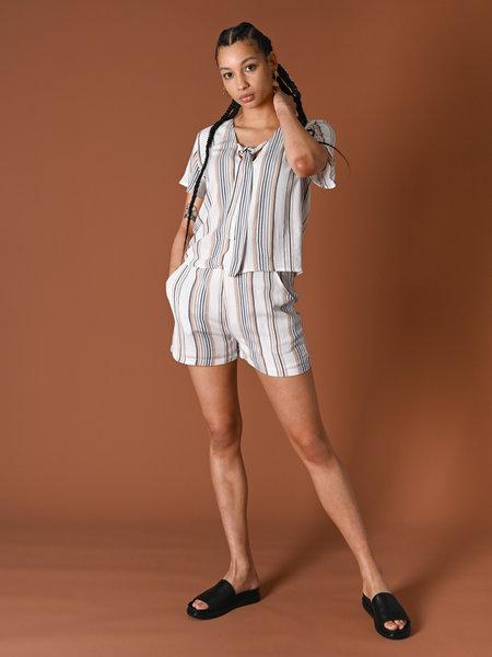 Rut & Circle Vendela Shorts Multi Color Stripe