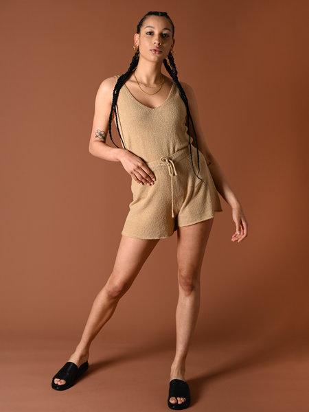 Rut & Circle Alma Knit Shorts Beige