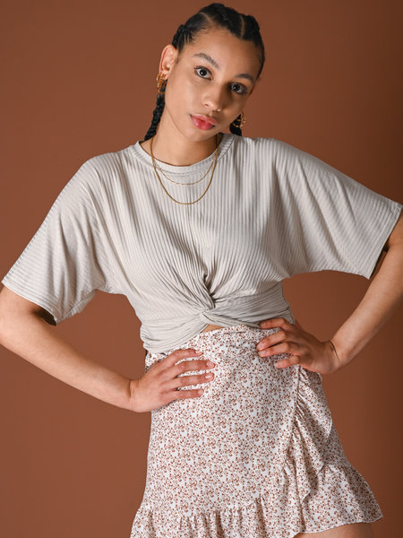Things I Like Things I Love TILTIL Lina Knot Top Beige