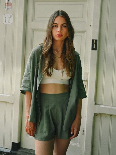 Things I Like Things I Love TILTIL Fianna Linen Short Green