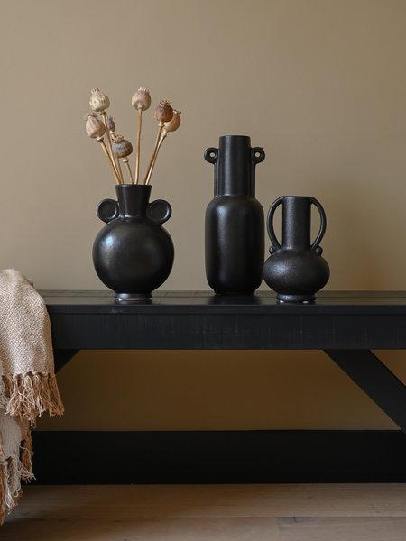 Vase Matte Black With Ears