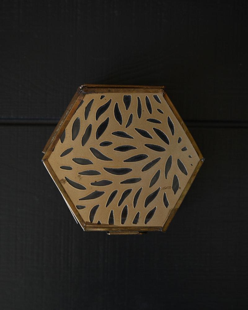 Box Glass Carvings Hexagon