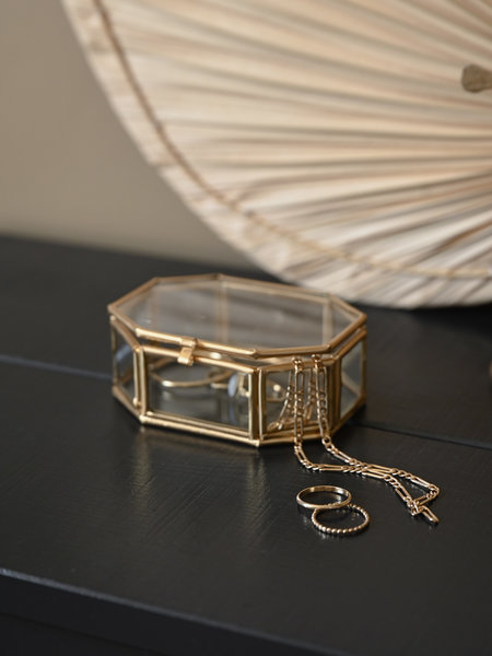 Madam Stoltz Glass Box Octagon