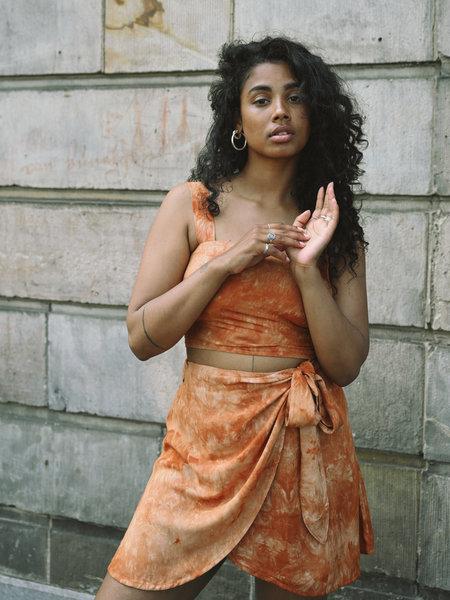 Things I Like Things I Love TILTIL Celine Wrap Skirt Orange Batik