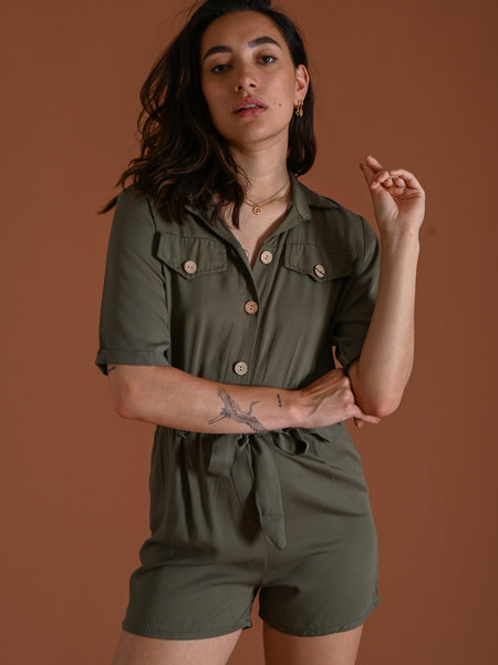 Things I Like Things I Love TILTIL Lois Playsuit Army