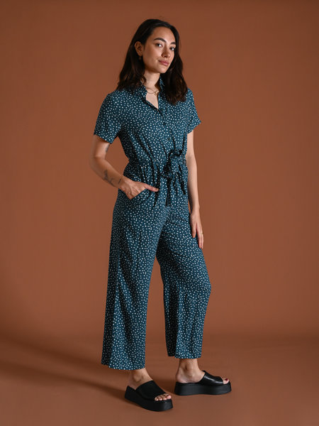 24Colours Jumpsuit Spotted Green